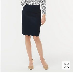 Jcrew navy pencil skirt